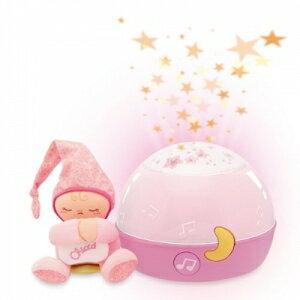 義大利 chicco - 舒眠星星投射夜燈-粉藍