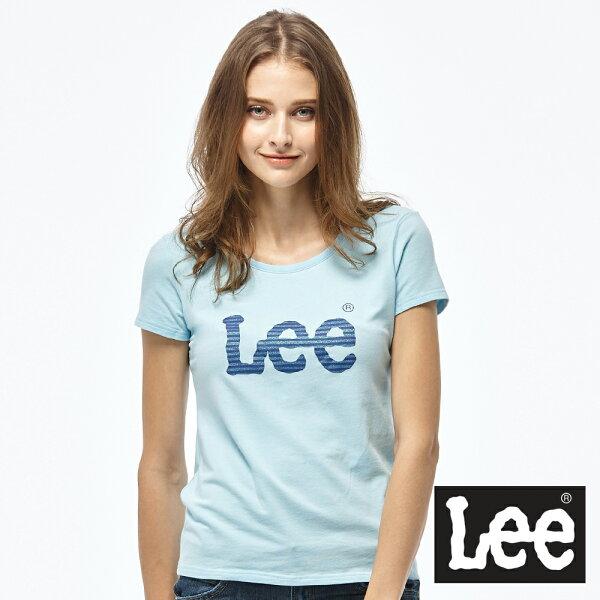 Lee亮片印花LOGO短袖圓領TEE-女款★全店滿$2000折$200