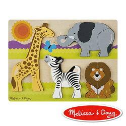 美國瑪莉莎 Melissa & Doug 厚塊拼圖 非洲動物園