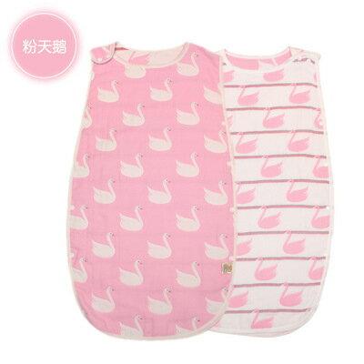 【愛家便宜購】 寶寶背心式六層紗布蘑菇睡袋(M號)
