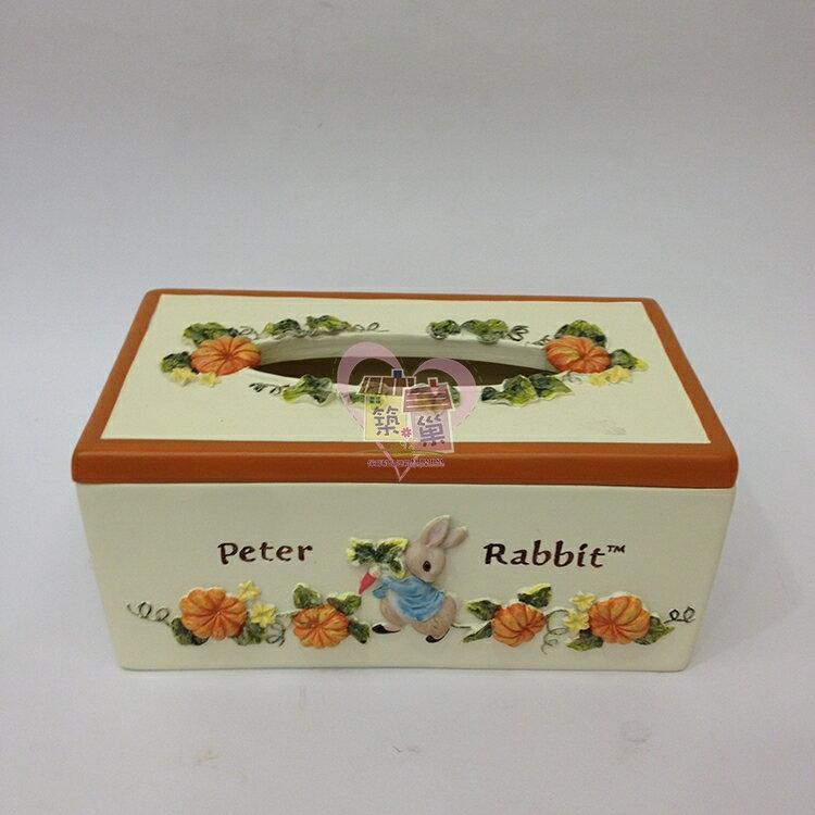 比得兔PeterRabbit 南瓜面紙盒/紙巾盒, 同系列另有壁鐘/置物盤/撲滿/桌燈可搭配