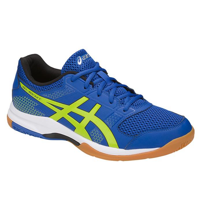 樂買網 ASICS 18SS 基本款 排球鞋 羽球鞋 ROCKET 8系列 B706Y-4589 贈防撞護膝