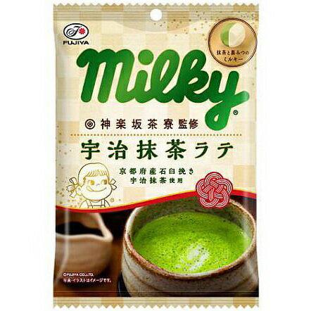 Fujiya不二家Milky宇治抹茶拿鐵牛奶糖 85g 不二家 ???? 神??茶寮監修宇治抹茶?? 袋 日本進口零食