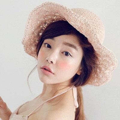 草帽 韓版氣質編織沙灘帽遮陽帽【O2924】☆雙兒網☆ 1