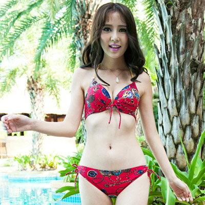 泳裝 時尚性感民族風三件式比基尼泳衣【O2948】☆雙兒網☆ 1