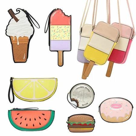 <br/><br/>  手拿包  風靡歐美漢堡冰淇淋斜垮零錢包【O2977】☆雙兒網☆<br/><br/>