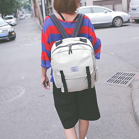 後背包 學院風帆布包電腦包書包【O3131】☆雙兒網☆ 1