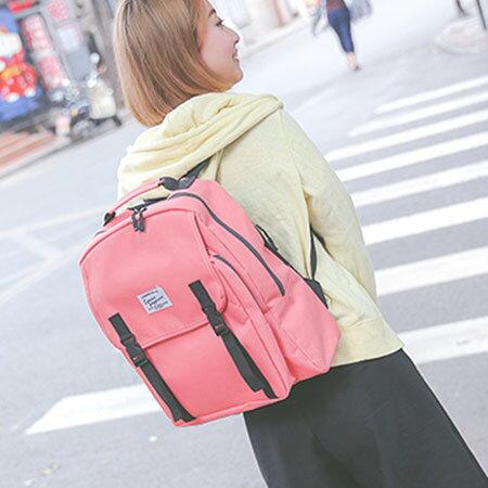 後背包 學院風帆布包電腦包書包【O3131】☆雙兒網☆ 2