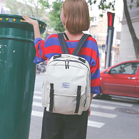 後背包 學院風帆布包電腦包書包【O3131】☆雙兒網☆ 0