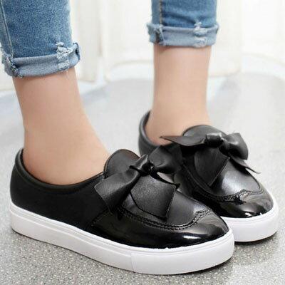 懶人鞋 韓版甜美大蝴蝶結樂福鞋休閒鞋【S1221】☆雙兒網☆