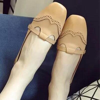 懶人鞋 甜美雕花平底包鞋【S1267】☆雙兒網☆ 2