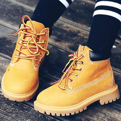 短靴時尚潮流綁帶粗跟馬丁靴童鞋【S1419】☆雙兒網☆