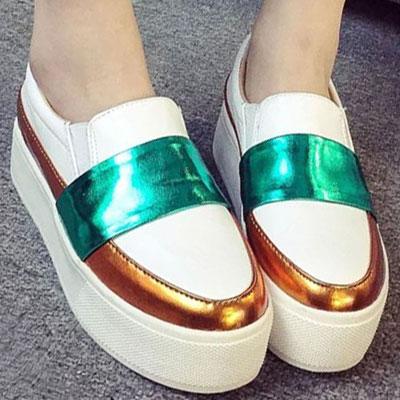 厚底鞋 時尚明星搶眼撞色厚底休閒鞋【S1476】☆雙兒網☆ 2