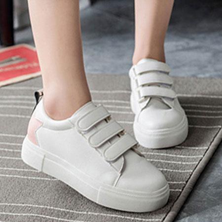 休閒鞋 韓版潮流字母魔鬼氈百搭白鞋【S1531】☆雙兒網☆ 2