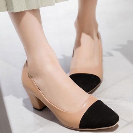 高跟鞋 名模最愛小香風撞色包鞋【S1533】☆雙兒網☆ 1