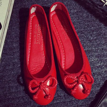 懶人鞋 典雅芭蕾蝴蝶結平底包鞋【S1535】☆雙兒網☆ 1