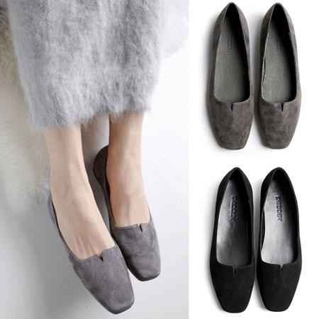 平底鞋 經典素色小V方頭平底鞋【S1567】☆雙兒網☆ 1