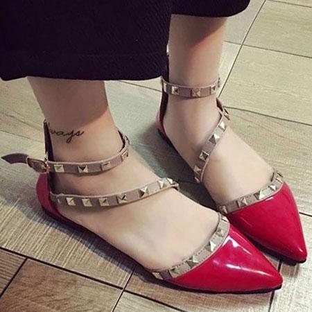 涼鞋 歐美性感鉚釘造型尖頭鞋【S1658】☆雙兒網☆ 1