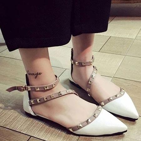 涼鞋 歐美性感鉚釘造型尖頭鞋【S1658】☆雙兒網☆ 2