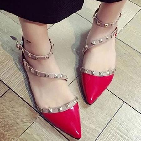 涼鞋 歐美性感鉚釘造型尖頭鞋【S1658】☆雙兒網☆ 0