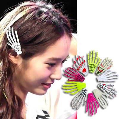 ☆雙兒網☆韓國少女時代愛用【AO2281】日本原宿龐克骷髏頭髮夾