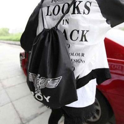 BIGBANG GD 權志龍抽繩束口袋BOY London潮包原宿棉帆布袋雙肩後背包~~A