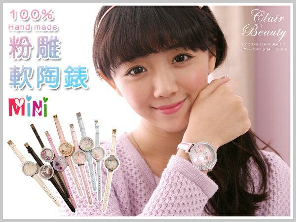 ☆雙兒網☆ 幸福樂章 【o2165】韓國Mini正品多款立體童話手工製作粉雕軟陶錶-附禮盒 1