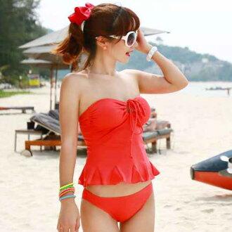 ☆雙兒網☆春吶海邊必備可搭配隱形胸罩【O2239】胸前綁繩多way兩件式小可愛泳衣