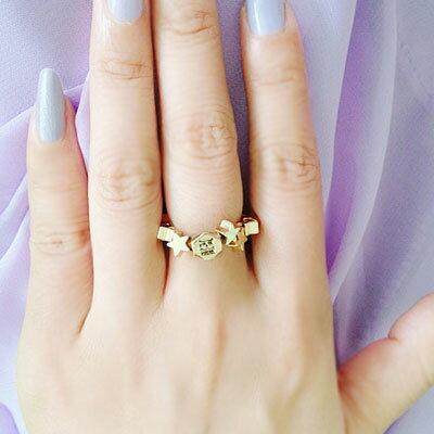 ☆雙兒網☆夢幻星星方塊彈力戒指【O2496】
