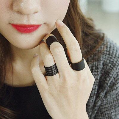 ☆雙兒網☆【O2498】韓劇主君的太陽黑色螺旋三件組戒指