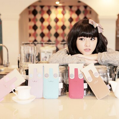 ☆雙兒網☆秋的記憶.預購【O254】韓國高質感麂皮可愛兔子造型筆袋-共五色