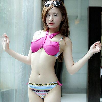 韓國甜美綁帶民俗風比基尼泳裝【O2636】☆雙兒網☆ - 限時優惠好康折扣