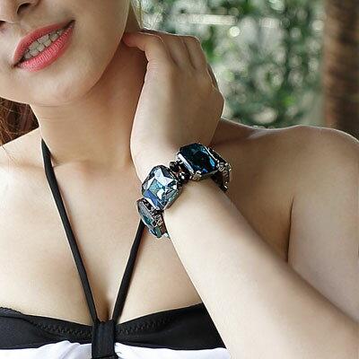 華麗巴洛克寶石彈性手環【O2642】☆雙兒網☆ - 限時優惠好康折扣
