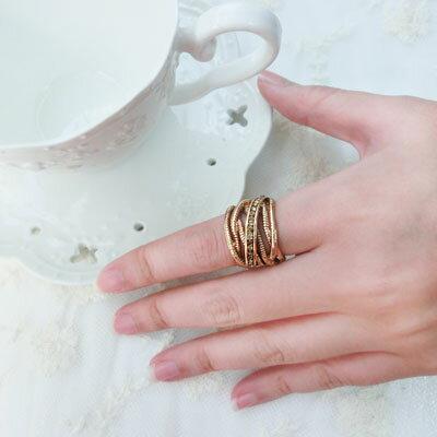 時尚復古多層次水鑽戒指【O2662】☆雙兒網☆ - 限時優惠好康折扣