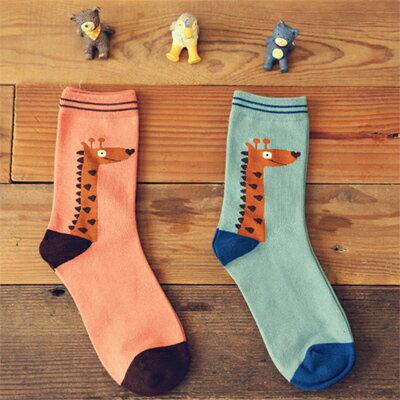襪子日系可愛長頸鹿短襪(一雙入)隨機出貨【O2770】☆雙兒網☆