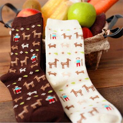 襪子 可愛牧羊人小馬短襪(一雙入)隨機出貨【O2771】☆雙兒網☆ - 限時優惠好康折扣