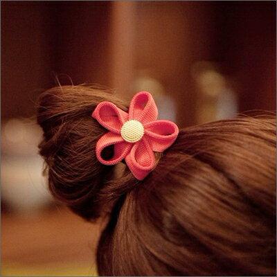 ☆雙兒網☆ 綺麗時分 【o972】韓風可愛花朵造型拉鍊花蕊髮圈