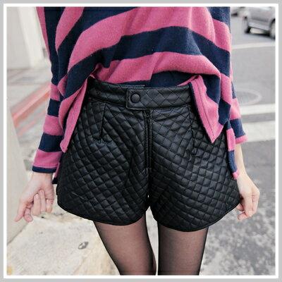 ☆雙兒網☆Naughty Trick 【p1195】韓國stylenanda時尚菱格皮短褲