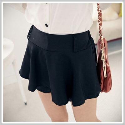 ~雙兒網~Spring Dating~P457~ 波浪荷葉顯瘦褲裙~共2色