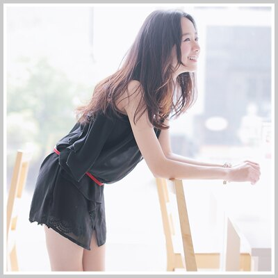 ☆雙兒網☆ Sunshine.現貨+預購【U507】H&M款領口金邊雙層雪紡無袖上衣-共2色