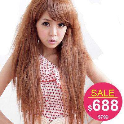 長捲髮公主蓬蓬波希米亞雨絲頭與韓國同步流行【MA002】☆雙兒網☆