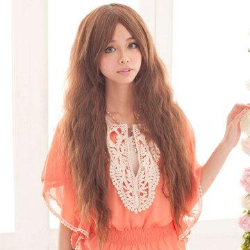 《買一送一》☆雙兒網☆HOT!材質再升級新耐熱假髮【MA077】森之精靈長瀏海蓬鬆長捲髮 1
