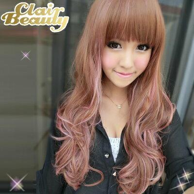 挑染少女時代動感混色長髮~高仿真超自然整頂假髮【MA119】☆雙兒網☆ 1