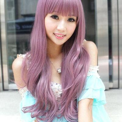 ☆雙兒網☆高仿真超自然整頂假髮【MA119】少女時代動感混色長髮