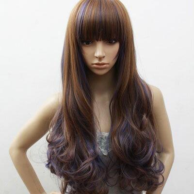 <br/><br/>  ☆雙兒網☆高仿真超自然整頂假髮【MA119】少女時代動感混色長髮<br/><br/>