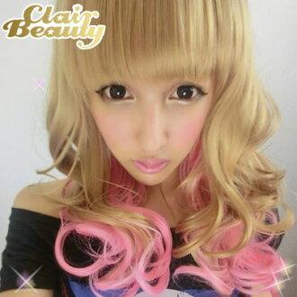 挑染~芭比娃娃金粉挑染長髮~高仿真超自然整頂假髮【MA138】☆雙兒網☆