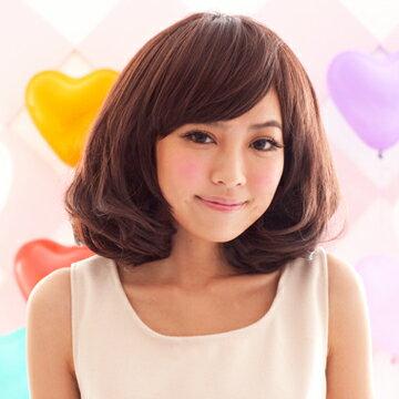 ☆雙兒網☆HOT!材質再升級新耐熱假髮【892DLH】日系修臉感蓬鬆斜分梨花頭