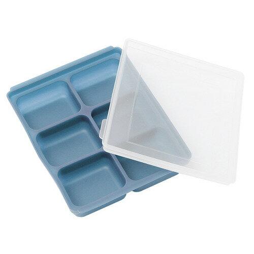 【三入特價$799】Mathos Loreley萱之愛 - 矽膠副食品分裝盒 50g / 6格 海軍藍 0