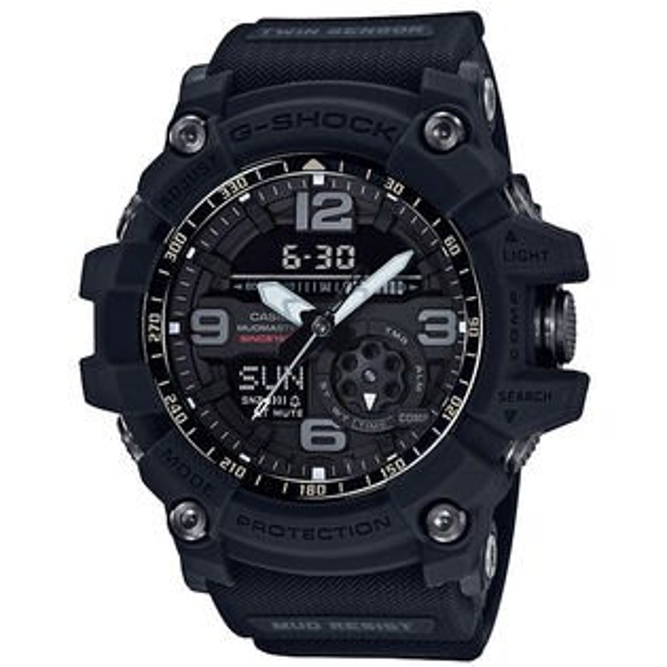 CASIOG-SHOCKGG-1035A-1A35週年宇宙大爆炸雙感應器強悍腕錶黑色