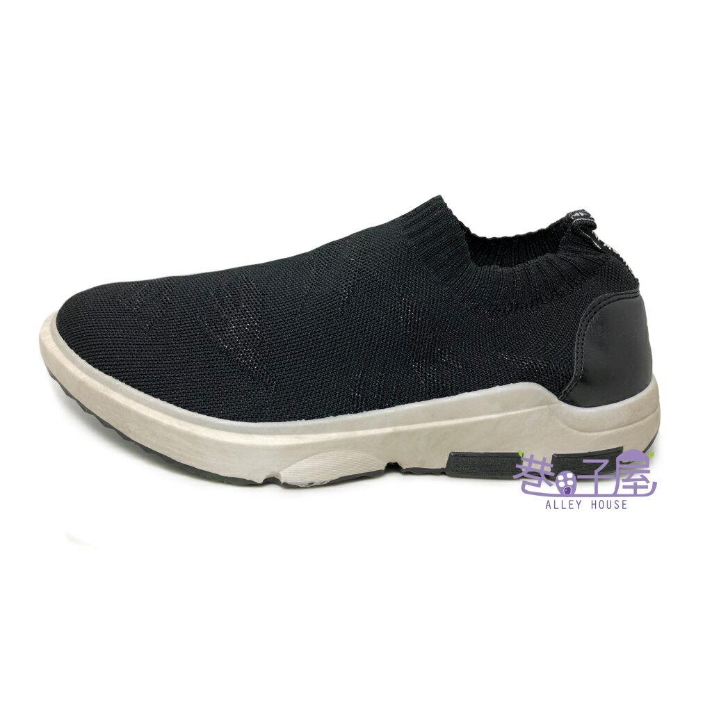 JIMMY POLO 男款仿舊彈性造型編織襪套鞋 運動休閒鞋 [7003] 黑【巷子屋】
